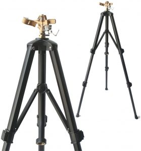 Brass Impact Tripod Sprinkler for Garden and Lawn